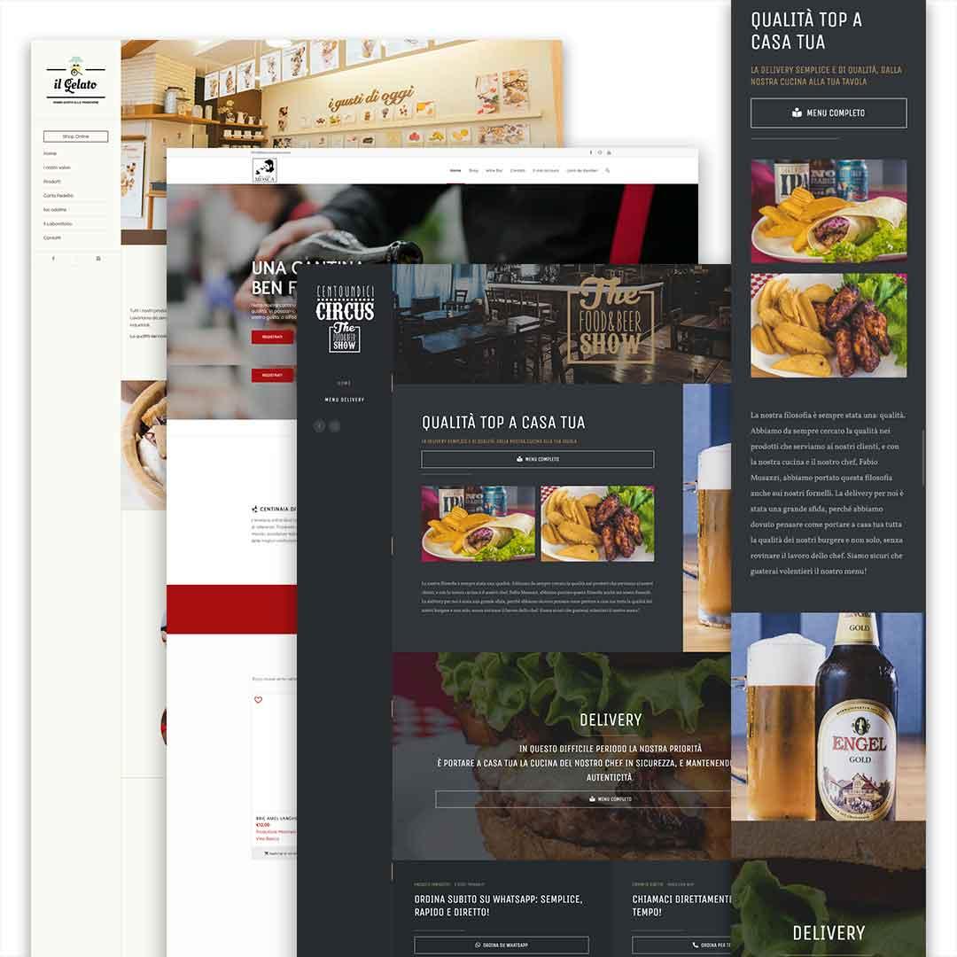 siti web per ristorazione food brush digitaltusk