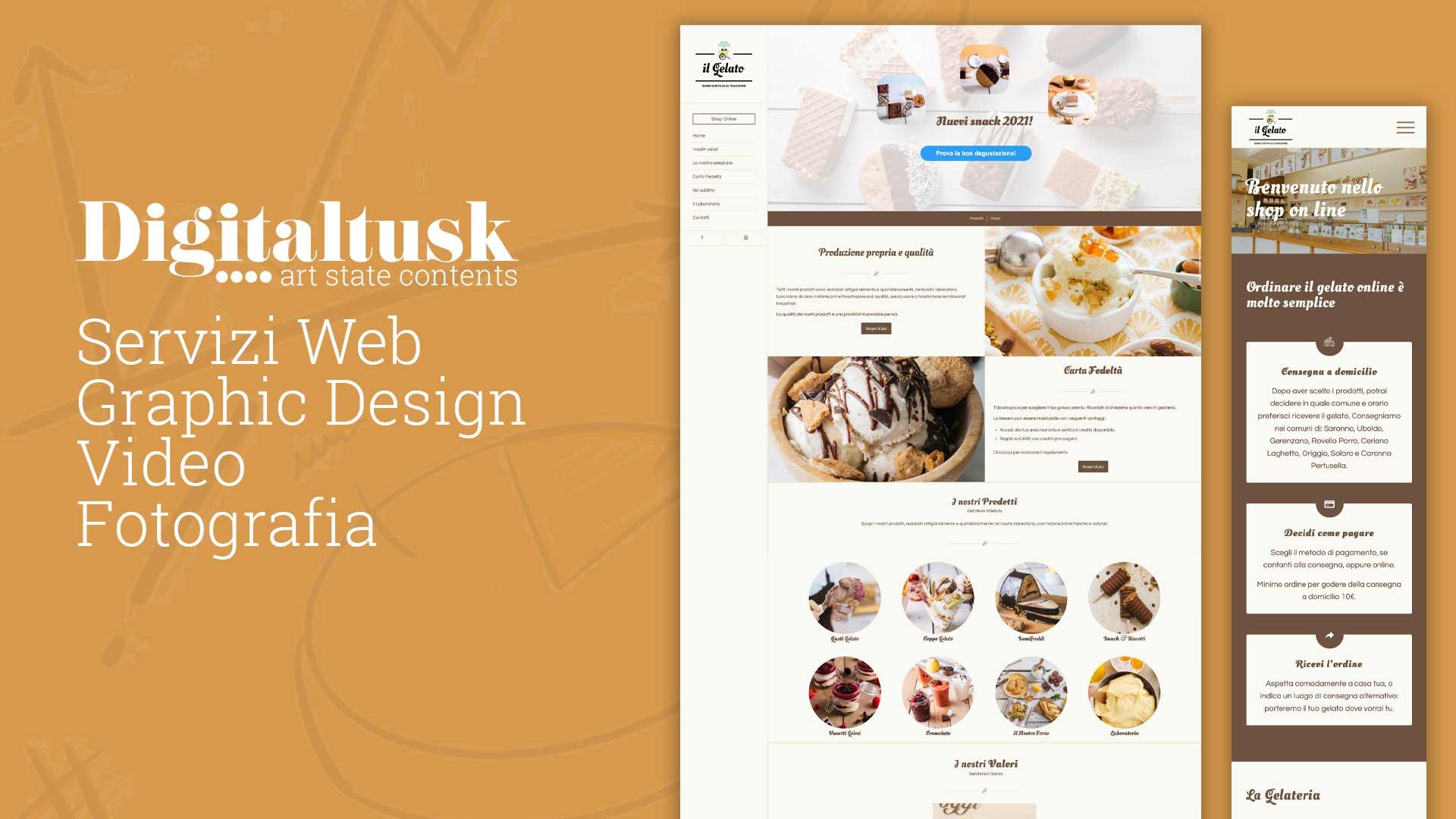 il gelato gelateria online ecommerce
